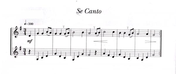 partition flute se canto